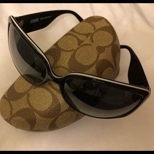 Authentic Coach sunglasses with case